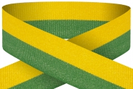 Yellow green 22mm wide ribbon Trophy Award