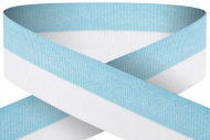 Light blue and white 22mm wide ribbon Trophy Award