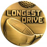 Golf Ball And Clubs Medal Trophy Award