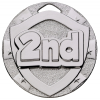 2nd Place Mini Shield Medal Trophy Award