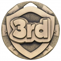 3rd Place Mini Shield Medal Trophy Award