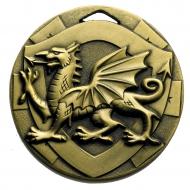 Welsh Dragon Medal 50mm : New 2020