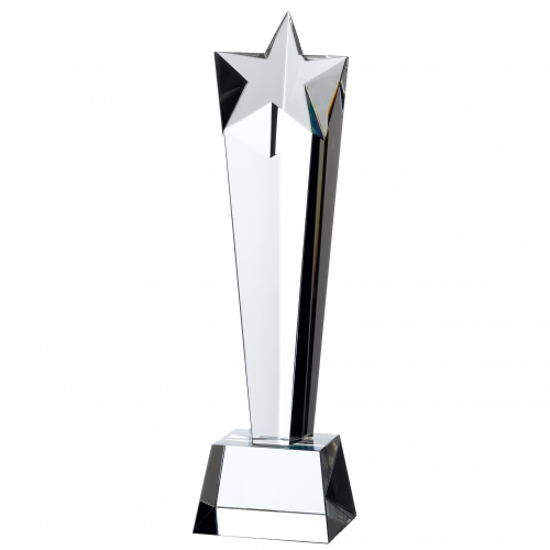 Crystal star pillar 11 inches Trophy Corporate Award