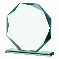 Octagonal 7.5 inches Trophy Corporate Award