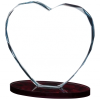 Heart Glass Award 4.75 inches 12cm : New 2020