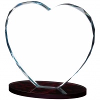 Heart Glass Award 6 inches 15cm : New 2020