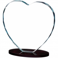 Heart Glass Award 7 inches 18cm : New 2020