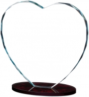 Heart Glass Award 8.25 inches 21cm : New 2020