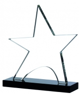 Clear star on black base 5.75 inches Trophy Award
