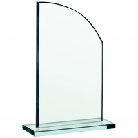 Glass plaque 7 inches Trophy Corporate Award