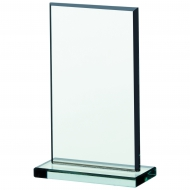 Jade glass plaque 6 inches Trophy Award