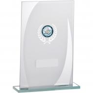 White Mirror Glass Award 18.5cm : New 2019