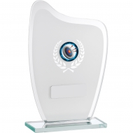 White Mirror Glass Award 16.5cm : New 2019