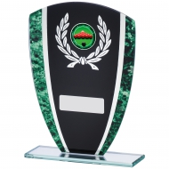 Green Marble Black Glass Award 16.5cm : New 2019