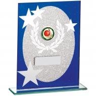 Blue Glitter Glass Award 16.cm : New 2019