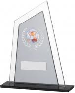 Black Smoked Glass Award 16.5cm : New 2019