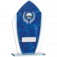 Blue Marble Mirrored Glass 7.25 inches 18.5cm : New 2020