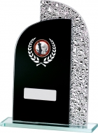 Black Mirror Glass 7.25 inches 18.5cm : New 2020