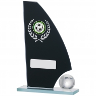 Football Mirror Glass Award 6.5 inches 16.5cm : New 2020