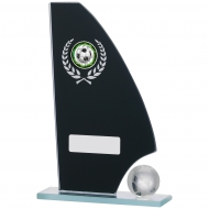 Football Mirror Glass Award 7 inches 18.5cm : New 2020