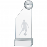 Male Football Glass Award 14cm : New 2019