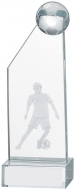 Male Football Glass Award 16cm : New 2019