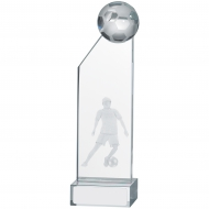 Male Football Glass Award 18.5cm : New 2019