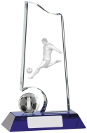 Football Glass Award 7 inches 17.5cm : New 2020