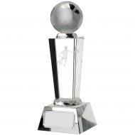 Victory Football Glass Pillar Trophy Award