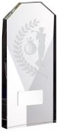 Glass Golf Male Trophy Award