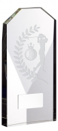 Glass Golf Female Trophy Award