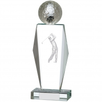 Golf Glass Award 9.25 inches 23.5cm : New 2020
