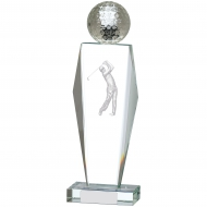 Golf Glass Award 10.5 inches 26.5cm : New 2020
