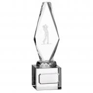 Glass Golf Male Player Trophy Award