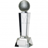 Golf Glass With Ball Trophy Award