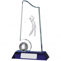 Golf Glass Award 7 inches 17.5cm : New 2020