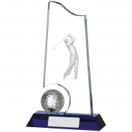 Golf Glass Award 8 inches 20cm : New 2020