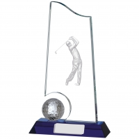 Golf Glass Award 9 inches 23cm : New 2020