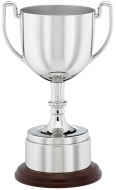 Nickel plated die-cast cup 8.25 inches Trophy Award