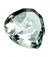 Glass heart paperweight Trophy Award