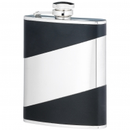 6 ounce black stainless steel flask Trophy Award