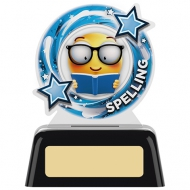 Spelling Round Acrylic Award 4 inches 10cm : New 2020