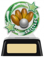 Skittles Round Trophy 4 inches 10cm : New 2020