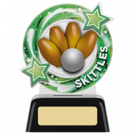Skittles Round Trophy 4.75 inches 11.5cm : New 2020
