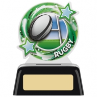 Round Rugby Award 4 inches 10cm : New 2020