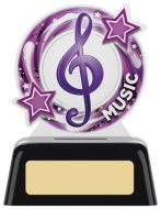 Music Round Acrylic Award 4 inches 10cm : New 2020