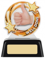 Well Done Round Acrylic Award 4 inches 10cm : New 2020