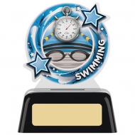 Swimming Round Acrylic Award 4 inches 10cm : New 2020