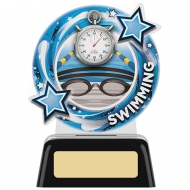 Swimming Round Acrylic Award 4.75 inches 11.5cm : New 2020