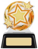 Star Round Acrylic Award 4 inches 10cm : New 2020